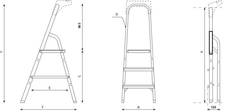 alu leiter 5 stufen haushaltsleiter malerleiter mehrzweck. Black Bedroom Furniture Sets. Home Design Ideas