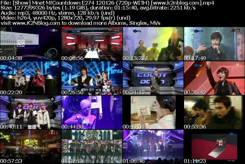 Mnet M!Countdown E274 120126
