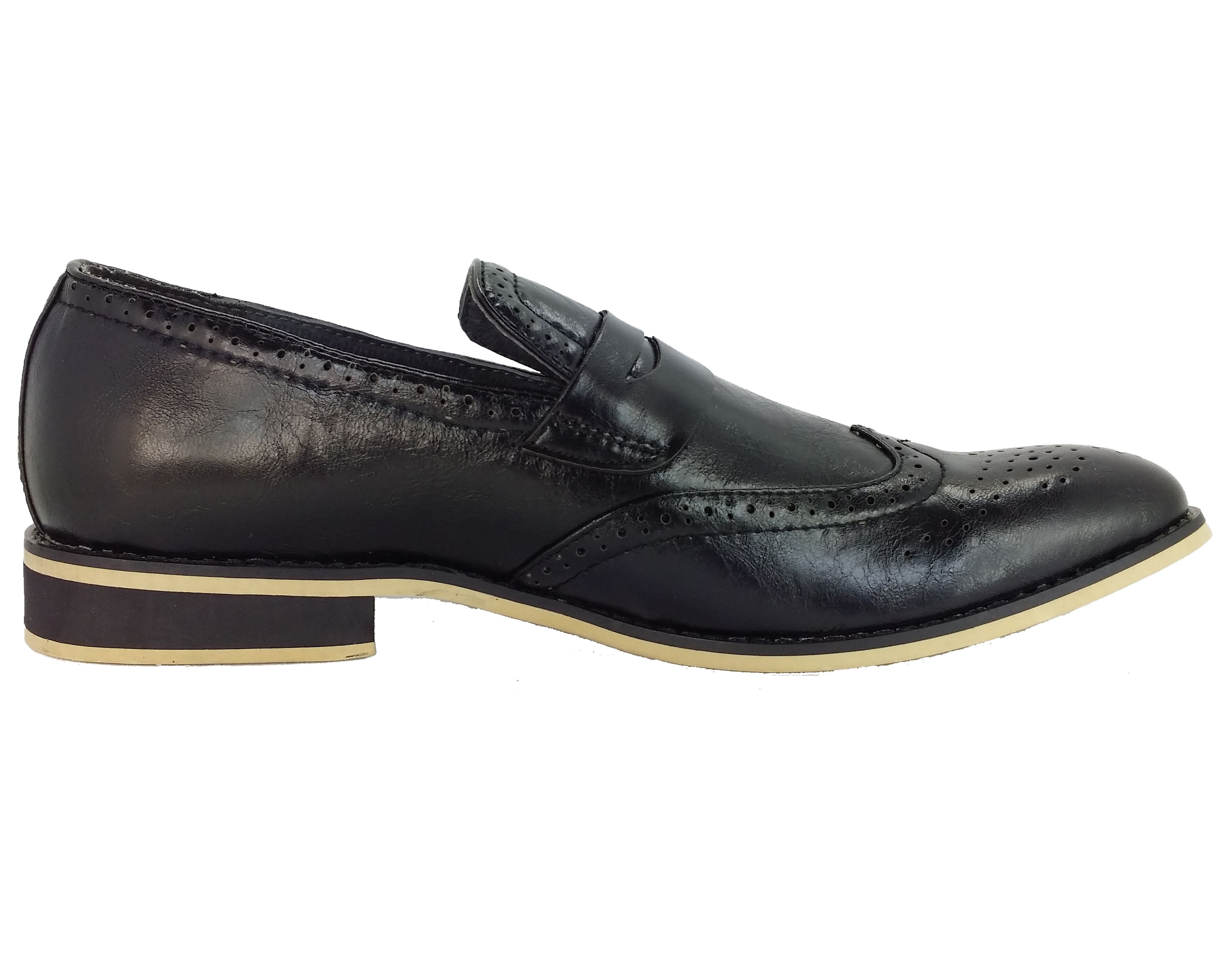 new mens dress shoes martello handmade black wingtip slip