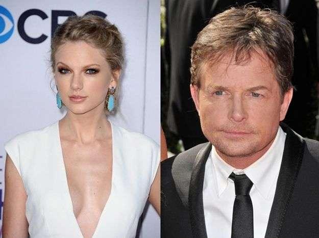 Taylor Swift y Michael J. Fox
