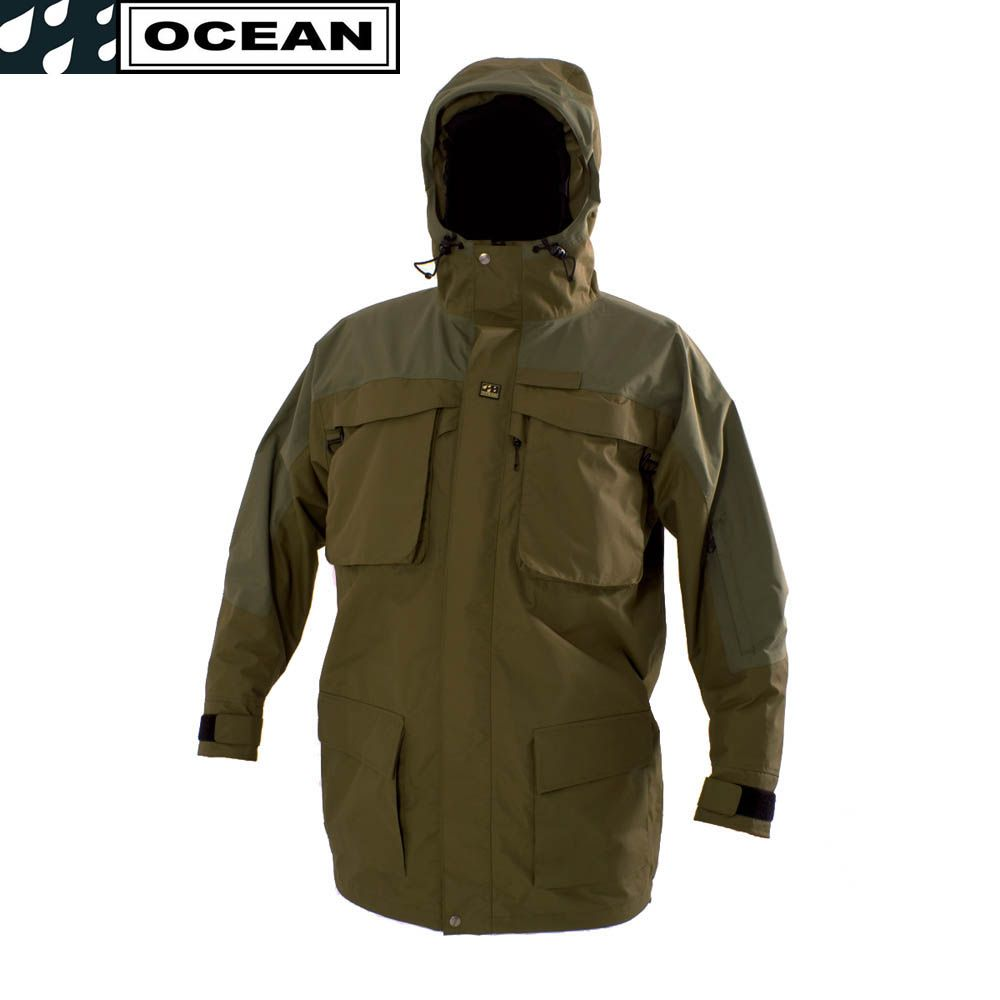 Ocean storm waterproof breathable fishing jacket coat game for Waterproof fishing jacket