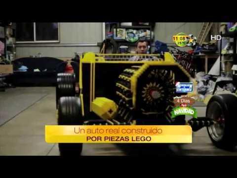 Un auto real con motor construido solo por piezas LEGO!